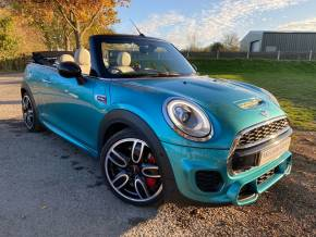 Mini John Cooper Works 2.0 2dr Petrol Auto (s/s) (CHILI + Media XL Pack! ++++) Convertible Diesel Aqua Caribbean Blue Metallic at Williams Group Ltd Maidstone