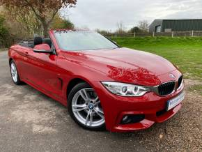BMW 4 Series 2.0 430i M Sport 2dr Auto [Professional Media] (Low Miles! Heated Seats! +++) Convertible Petrol Melbourne Red Metallic at Williams Group Ltd Maidstone