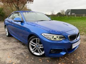 BMW 2 Series 2.0 220d [190] xDrive M Sport 2dr Step Auto (Leather! Heated Memory Seat! +) Coupe Diesel Estoril Blue Metallic at Williams Group Ltd Maidstone