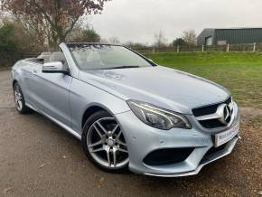 Mercedes-Benz E Class 2.1 E220 CDI BlueTEC AMG Line Cabriolet 7G-Tronic Plus (s/s 2dr (Air Scarf! Intelligent Lights! +) Convertible Diesel Diamond Silver Metallic at Williams Group Ltd Maidstone