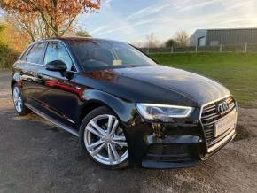 Audi A3 1.4 TFSI S Line 5dr (Low Miles! Park System Plus! +) Hatchback Petrol Mythos Black Metallic at Williams Group Ltd Maidstone