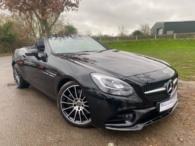 Mercedes-Benz SLC 2.0 SLC 200 AMG Line 2dr (Night Pack! Pan Roof! ++) Convertible Petrol Obsidian Black