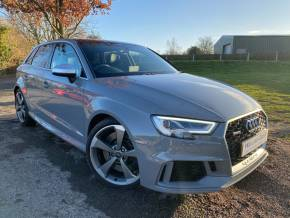 Audi RS3 2.5 TFSI RS 3 Quattro 5dr S Tronic (Pan Roof! 19in Rotors! +++) Hatchback Petrol Nardo Grey at Williams Group Ltd Maidstone