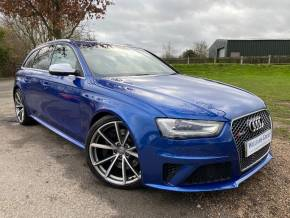 Audi RS4 4.2 FSI Quattro 5dr S Tronic (Sports Pack! 20in Alloys! +++) Estate Petrol Sepang Blue Pearl at Williams Group Ltd Maidstone
