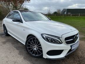 Mercedes-Benz C Class 3.0 C43 4Matic Premium Plus 4dr Auto (Driver Assist Pack! Night Pack! +) Saloon Petrol Diamond White Metallic at Williams Group Ltd Maidstone
