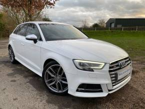 Audi S3 2.0 TFSI Quattro 5dr (FSH! 18in Alloys! +++) Hatchback Petrol Ibis White at Williams Group Ltd Maidstone