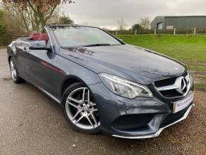 Mercedes-Benz E Class 2.1 E220 BlueTEC AMG Line 2dr 7G-Tronic (Intelligent LEDs! Air Scarf! +) Convertible Diesel Tenorite Grey Metallic at Williams Group Ltd Maidstone