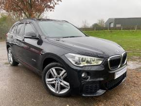 BMW X1 2.0 xDrive 25d M Sport 5dr Step Auto (Full Leather! LED Headlights! +) Estate Diesel Sapphire Black Metallic at Williams Group Ltd Maidstone