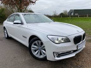 BMW 7 Series 3.0 730d SE 4dr Auto (Comfort Seats! Sunroof! +++) Saloon Diesel Mineral White Metallic at Williams Group Ltd Maidstone