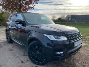 Land Rover Range Rover Sport 3.0 SDV6 [306] HSE 5dr Auto (22in Alloys! Pan Roof! +++) Estate Diesel Santorini Black Metallic at Williams Group Ltd Maidstone