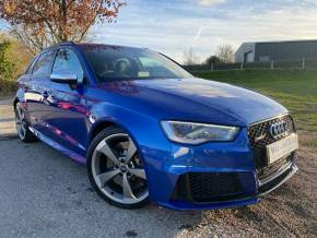 Audi RS3 2.5 TFSI RS 3 Quattro 5dr S Tronic [Nav] (Dynamic, Comfort + Sound Pack! ++) Hatchback Petrol Sepang Blue Pearl at Williams Group Ltd Maidstone