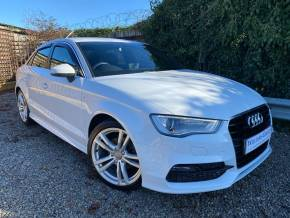 Audi A3 2.0 TDI S Line 4dr (Sat Nav! 18in Alloys! +++) Saloon Diesel Ibis White at Williams Group Ltd Maidstone