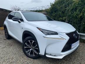 Lexus Nx 300h 2.5 F-Sport 5dr CVT (Adaptive Cruise! Rear Cam! ++) Estate Petrol / Electric Hybrid White at Williams Group Ltd Maidstone