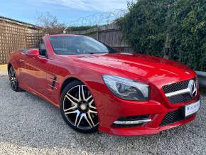 Mercedes-Benz SL Class 3.0 SL 400 AMG Sport 2dr Auto (Harman Kardon! Pan Roof! +++) Convertible Petrol Fire Opal Red at Williams Group Ltd Maidstone