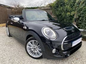 Mini Convertible 2.0 Cooper S 2dr (CHILI + Media XL Pack! HUD! ++) Convertible Petrol Midnight Black Metallic at Williams Group Ltd Maidstone