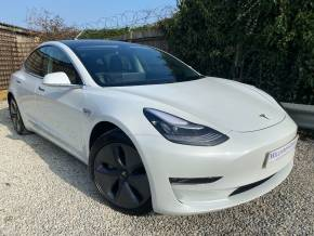 Tesla Model-3 0.0 Long Range AWD 4dr Auto (Autopilot! Pan Roof! +++) Saloon Electric Pearl White Multi-Coat at Williams Group Ltd Maidstone