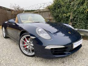 Porsche 911 3.8 S 2dr PDK (Bi-Xenons! BOSE! Cooled Seats! +++) Convertible Petrol Dark Blue Metallic at Williams Group Ltd Maidstone