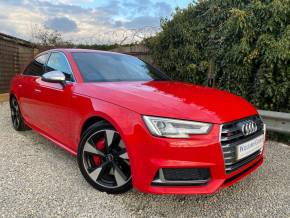 Audi S4 3.0 TFSI V6 Tiptronic quattro (s/s) 4dr (LED Headlights! Privacy Glass! ++) Saloon Petrol Misano Red Pearl at Williams Group Ltd Maidstone