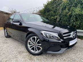 Mercedes-Benz C Class 2.0 C200 Sport Premium 4dr 9G-Tronic (Low Miles! Pan Roof! +++) Saloon Petrol Obsidian Black Metallic at Williams Group Ltd Maidstone