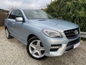 Mercedes-Benz M Class 3.0 ML350 CDi BlueTEC AMG Line 5dr Auto (20in Alloys! Rear Camera! +++) Estate Diesel Diamond Silver Metallic at Williams Group Ltd Maidstone