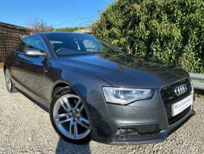 Audi A5 2.0T FSI 225 Quattro S Line 2dr S Tronic (Audi Drive Select! Bluetooth! ++) Coupe Petrol Daytona Grey Pearl at Williams Group Ltd Maidstone