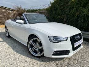 Audi A5 2.0 TDI 150 S Line Special Edition 2dr (19in Alloys! Bang + Olufsen! +) Convertible Diesel Ibis White at Williams Group Ltd Maidstone