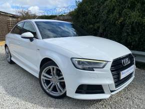 Audi A3 2.0 TDI S Line 4dr S Tronic (Tech Pack! LED Headlights! +++) Saloon Diesel Ibis White at Williams Group Ltd Maidstone