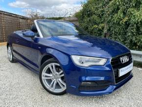 Audi A3 1.4 TFSI 150 S Line 2dr (Rear Sensors! heated Seats! +++) Convertible Petrol Scuba Blue Metallic at Williams Group Ltd Maidstone