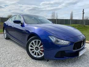 Maserati Ghibli 3.0 V6d 4dr Auto [Luxury Pack] (Memory Seats! Convenience Pack! +) Saloon Diesel Emozione Blue Mica at Williams Group Ltd Maidstone
