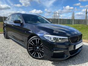 BMW 5 Series 2.0 520d M Sport 5dr Auto (Rear Camera! Full BMW SH! +++) Estate Diesel Carbon Black Metallic at Williams Group Ltd Maidstone