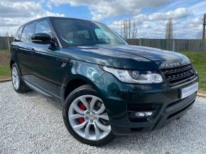 Land Rover Range Rover Sport 3.0 SDV6 Autobiography Dynamic 5dr Auto (FSH! Privacy Glass! Pan Roof! +) Estate Diesel Aintree Green Metallic at Williams Group Ltd Maidstone