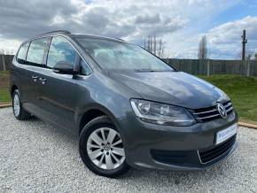 Volkswagen Sharan 2.0 TDI CR BlueMotion Tech 140 SE 5dr DSG (Low Miles! Metallic Paint! +) MPV Diesel Iridium Grey Metallic at Williams Group Ltd Maidstone