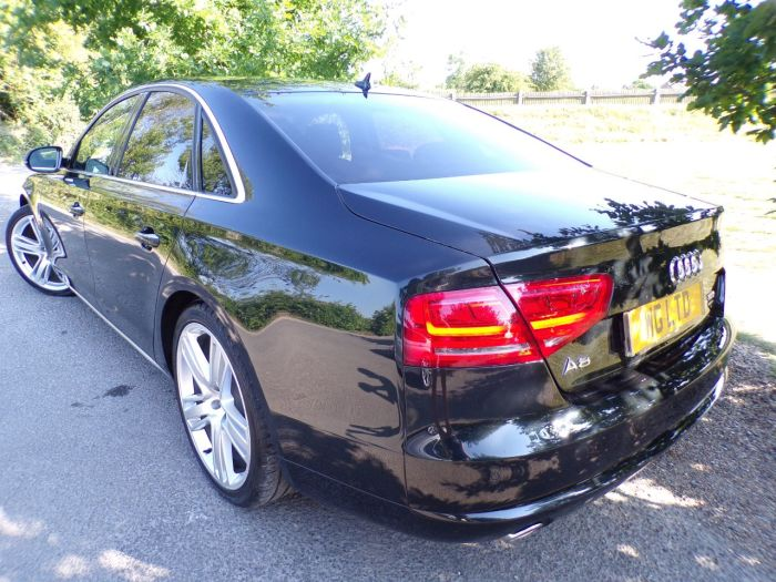 Audi A8 3.0 TDI Quattro Sport Executive 4dr Tip Auto  (Surround View! Heated Seats! ++) Saloon Diesel Emerald Black Metallic
