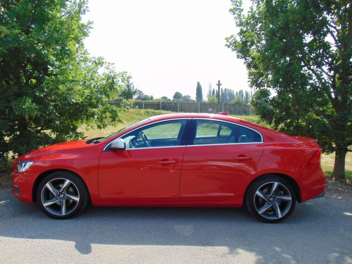 Volvo S60 2.0 D3 [136] R DESIGN 4dr (Parking Sensors! Heated Seats! +) Saloon Diesel Flamenco Red Metallic