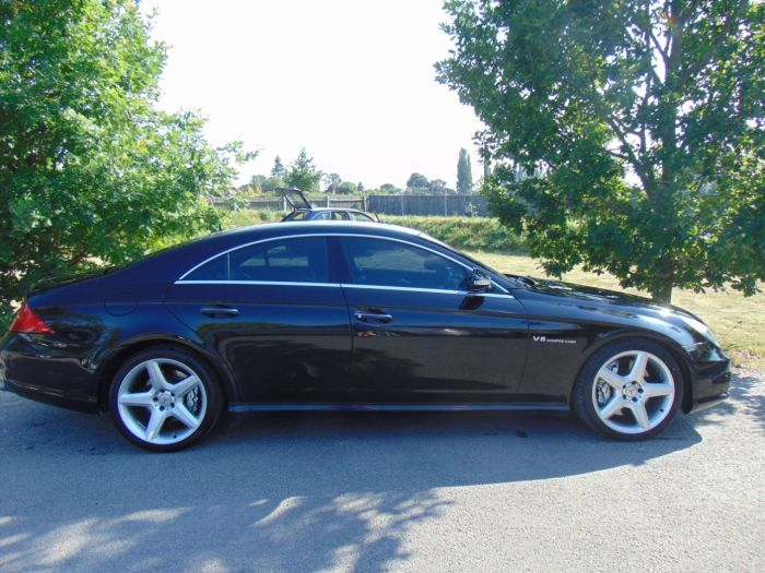 Mercedes-Benz CLS 5.4 CLS55 4dr Auto (COMAND APS! Keyless! +++) Coupe Petrol Obsidian Black Metallic