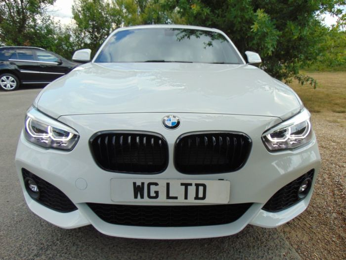BMW 1 Series 2.0 118d M Sport Shadow Edition 5dr (FSH! 1 Owner! Low Miles! ++) Hatchback Diesel Alpine White