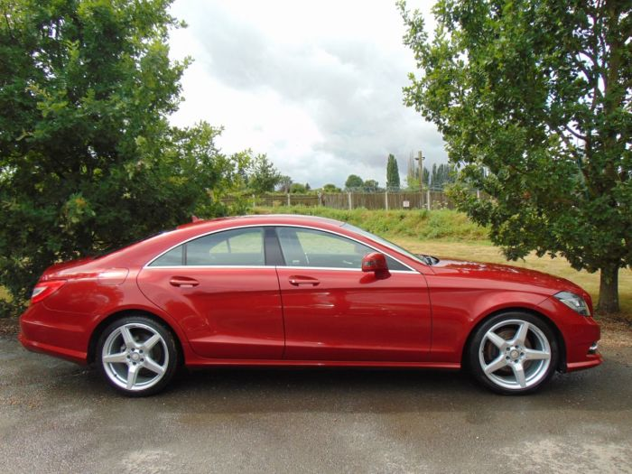 Mercedes-Benz CLS 2.1 CLS 250 CDI BlueEFFICIENCY AMG Sport 4dr Tip Auto (COMAND! Heated Seats! ++) Coupe Diesel Hyacinth Red