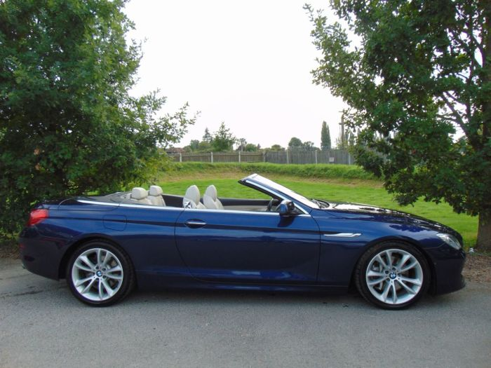 BMW 6 Series 3.0 640i SE 2dr Auto (Adaptive Drive! Heads-Up! ++) Convertible Petrol Deep Sea Blue Metallic