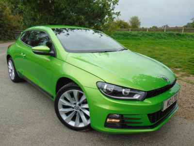 Volkswagen Scirocco 1.4 TSI BlueMotion Tech GT 3dr (Full VW History! Nav! DAB! +++) Coupe Petrol Viper Green MetallicVolkswagen Scirocco 1.4 TSI BlueMotion Tech GT 3dr (Full VW History! Nav! DAB! +++) Coupe Petrol Viper Green Metallic at Williams Group Maidstone