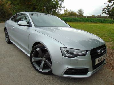 Audi A5 3.0 TDI 204 Black Edition 2dr Multitronic (Tech Pack! Special Paint! +++) Coupe Diesel SilverAudi A5 3.0 TDI 204 Black Edition 2dr Multitronic (Tech Pack! Special Paint! +++) Coupe Diesel Silver at Williams Group Maidstone