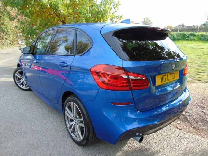 BMW 2 Series 2.0 218d M Sport 5dr (Pan Roof! Heated Seats! +++) Hatchback Diesel Estoril Blue Metallic