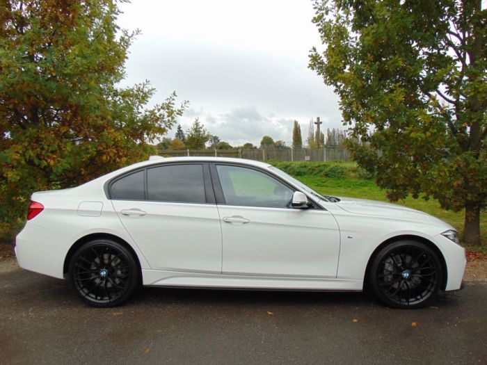 BMW 3 Series 3.0 335d xDrive M Sport 4dr Step Auto (Sat Nav! Privacy Glass! ++) Saloon Diesel Alpine White