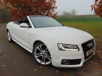 Audi A5 3.0 TDI Quattro S Line 2dr S Tronic (Tech Pack! B+O! Heated Seats! ++) Convertible Diesel Ibis WhiteAudi A5 3.0 TDI Quattro S Line 2dr S Tronic (Tech Pack! B+O! Heated Seats! ++) Convertible Diesel Ibis White at Williams Group Maidstone