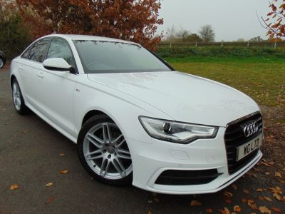 Audi A6 2.0 TDI S Line 4dr Multitronic (19in Alloys! Heated Seats! ++) Saloon Diesel Ibis WhiteAudi A6 2.0 TDI S Line 4dr Multitronic (19in Alloys! Heated Seats! ++) Saloon Diesel Ibis White at Williams Group Maidstone