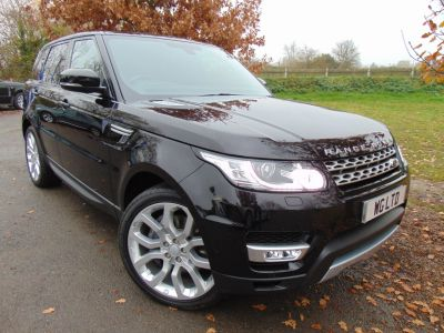 Land Rover Range Rover Sport 3.0 SDV6 HSE 5dr Auto (22in Alloys! Pan Roof! ++) Estate Diesel Barolo Black Premium MetallicLand Rover Range Rover Sport 3.0 SDV6 HSE 5dr Auto (22in Alloys! Pan Roof! ++) Estate Diesel Barolo Black Premium Metallic at Williams Group Maidstone