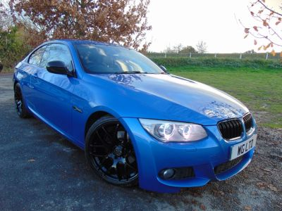 BMW 3 Series 2.0 320d M Sport 2dr (FSH! Pro Media Pack! +++) Coupe Diesel Estoril Blue MetallicBMW 3 Series 2.0 320d M Sport 2dr (FSH! Pro Media Pack! +++) Coupe Diesel Estoril Blue Metallic at Williams Group Maidstone