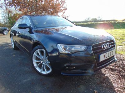 Audi A5 2.0 TDI 177 Quattro SE Technik 5dr S Tronic [5 St] (Xenon Plus Headlights! ++) Hatchback Diesel Moonlight Blue MetallicAudi A5 2.0 TDI 177 Quattro SE Technik 5dr S Tronic [5 St] (Xenon Plus Headlights! ++) Hatchback Diesel Moonlight Blue Metallic at Williams Group Maidstone