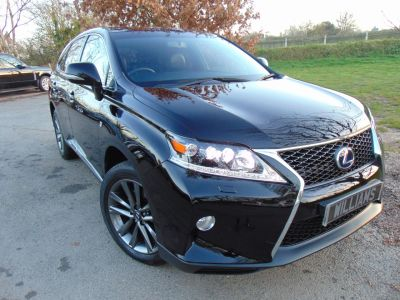 Lexus RX 450h 3.5 F-Sport 5dr CVT Auto (FLSH! Heads up! Great Spec! ++) Estate Hybrid BlackLexus RX 450h 3.5 F-Sport 5dr CVT Auto (FLSH! Heads up! Great Spec! ++) Estate Hybrid Black at Williams Group Maidstone
