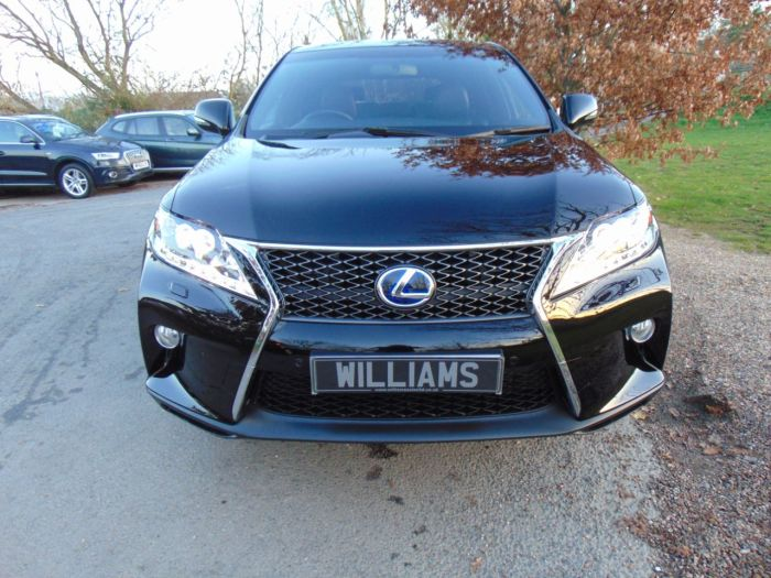 Lexus RX 450h 3.5 F-Sport 5dr CVT Auto (FLSH! Heads up! Great Spec! ++) Estate Hybrid Black