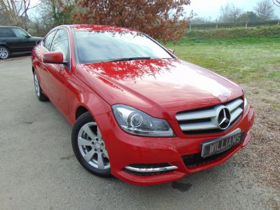 Mercedes-Benz C Class 2.1 C220 CDI BlueEFFICIENCY Executive SE 2dr Auto (Just 14,000 Miles! Mars Red!++) Coupe Diesel RedMercedes-Benz C Class 2.1 C220 CDI BlueEFFICIENCY Executive SE 2dr Auto (Just 14,000 Miles! Mars Red!++) Coupe Diesel Red at Williams Group Maidstone